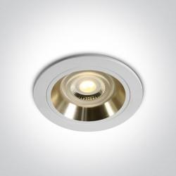 One Light Wpust oprawka sufitowa biała złota Jalia 10105ALG/W/GL