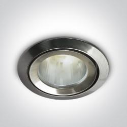 One Light Oprawka sufitowa do łazienki chrom mat Kalisti 10105CJ/MC/5 IP43