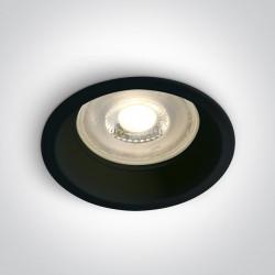 One Light Oprawa wpuszczana czarna Steni 10105D1/B