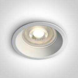 One Light Oprawa wpuszczana biała Steni 10105D1/W