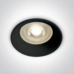 One Light Oprawa sufitowa wpust czarny Kinusa 10105D2/B