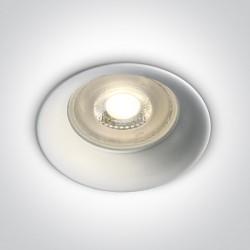 One Light Oprawa sufitowa wpust biała Kinusa 10105D2/W