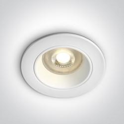 One Light Oprawka wpuszczana podwójna biała Lisos 10105D3/W