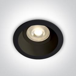 One Light Oprawka wpuszczana czarna oczko Meladia 10105D4/B