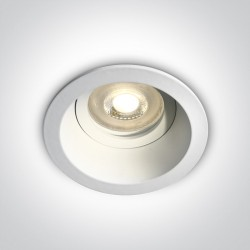 One Light Oprawka wpuszczana biała oczko Meladia 10105D4/W