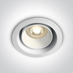 One Light Wpust regulowany biały Zacharia 10105D5/W