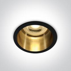 One Light Oprawa wpuszczana czarna złota głęboka Ormos 10105D8/B/GL