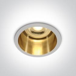 One Light Oprawa wpuszczana biała złota głęboka Ormos 10105D8/W/GL