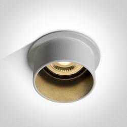 One Light Oprawa sufitowa tuba biała Tholos 10105D9/W/B