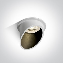 One Light Oprawa sufitowa biała skośna Ewretu 10105E1/W/B