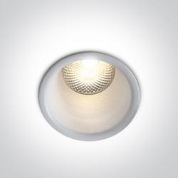 One Light Lampa wpuszczana biała głęboka LED Simu 10105FD/W/W