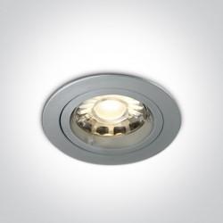 One Light Lampa wpuszczana szara Trinia 10105GU/G