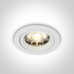 One Light Lampa wpuszczana biała Trinia 10105GU/W