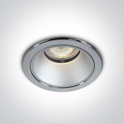 One Light Lampa wpuszczana głęboka chrom Psati 10105L/C