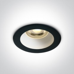 One Light Lampa wpuszczana czarna biała Kanawi 10105M/B/W