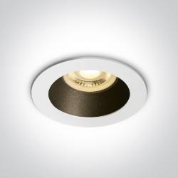 One Light Lampa wpuszczana biała czarna Kanawi 10105M/W/B