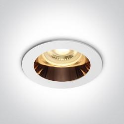 One Light Lampa wpuszczana biała miedż Kanawi 10105M/W/CU