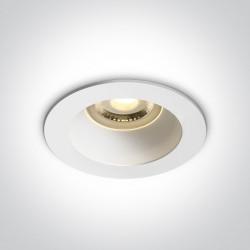 One Light Lampa wpuszczana biała Kanawi 10105M/W/W