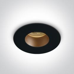 One Light Lampa sufitowa czarna mosiężna Joanis 10105MD/B/BS
