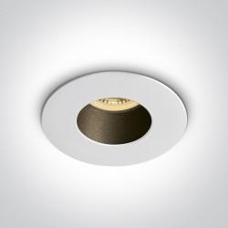 One Light Lampa sufitowa biała czarna Joanis 10105MD/W/B