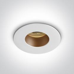 One Light Lampa sufitowa biała mosiężna Joanis 10105MD/W/BS