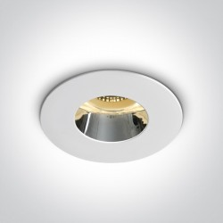 One Light Lampa sufitowa biała chrom Joanis 10105MD/W/C