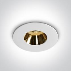 One Light Lampa sufitowa biała złota Joanis 10105MD/W/GL