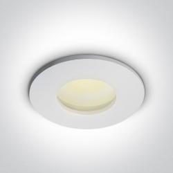 One Light Lampa sufitowa do łazienki biała Arminu 10105R/W IP44