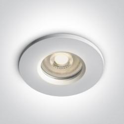One Light Lampa do łazienki biała Nikolaos 10105R1/W IP65