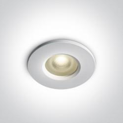 One Light Oprawa wpuszczana biała do łazienki Filousa 10105R1P/W IP65