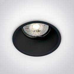 One Light Wpuszczana lampa czarna Chulu 10105TG/B