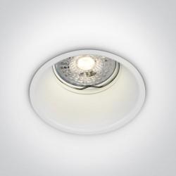 One Light Wpuszczana lampa biała Chulu 10105TG/W