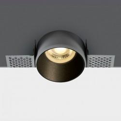 One Light Lampa wpuszczana czarna Potamos 10105TR/B