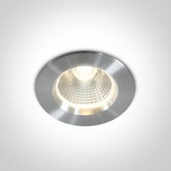 One Light Lampa LED aluminiowa wpuszczana Panaja 10105W/AL/W IP44