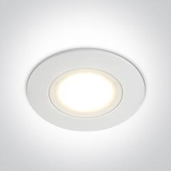 One Light Halogen LED do łazienki biały Tsada 10106P/W/W IP65