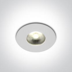 One Light Lampa LED sufitowa ognioodporna Ganema 10106PF/W IP65