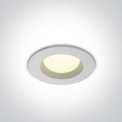One Light Wpust sufitowy LED biały Pomos 10107B/W/C IP54