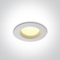 One Light Wpust sufitowy LED biały Pomos 10107B/W/W IP54