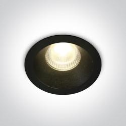 One Light Wpust LED sufitowy czarny uniwersalny Lukrunu 10107DC/B/W