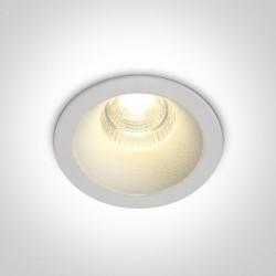 One Light Wpust LED sufitowy biały uniwersalny Lukrunu 10107DC/W/W