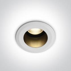 One Light Wpust sufitowy biały Jolu 10107DL/W/W IP66