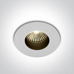 One Light Wpust LED sufitowy do łazienki Katikas 10107H/W/W IP68