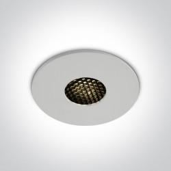 One Light Wpust do łazienki biały plaster miodu Teletra 10107HC/W/W IP54