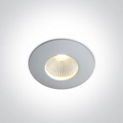 One Light Wpust LED do łazienki biały 7W Strumbi 10107P/W/W IP65