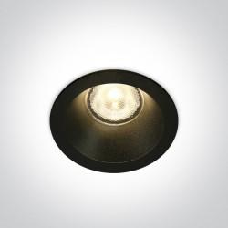 One Light Wpust sufitowy uniwersalny czarny Timi 10107WP/B/W IP44