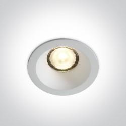 One Light Wpust sufitowy uniwersalny biały Timi 10107WP/W/W IP44