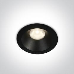 One Light Wpust LED sufitowy czarny 8W Armu 10108D/B/W