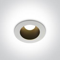 One Light Wpust LED biały czarny uniwersalny 8W Volax 10108ED/W/B/W