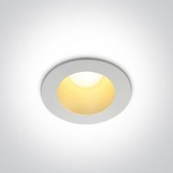 One Light Wpust LED uniwerslany biały mosiądz 8W Sarola 10108ED/W/BS/W