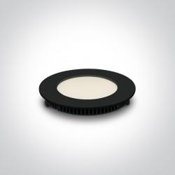 One Light Wpust LED czarny przemysłowy płaski Fokas 2 10108FA/B/W
